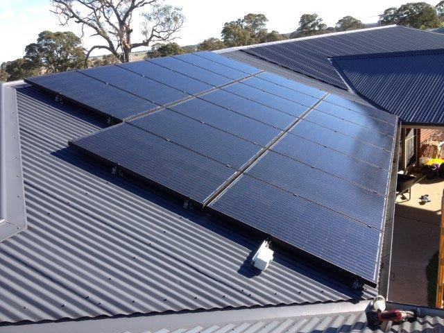 maintaining a solar panel