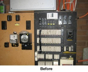 before electrical upgrade
