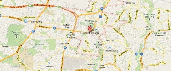 greensborough map