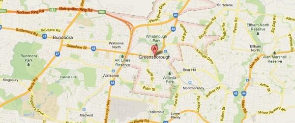 greensborough map