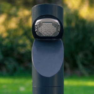 solar bollard installed at council