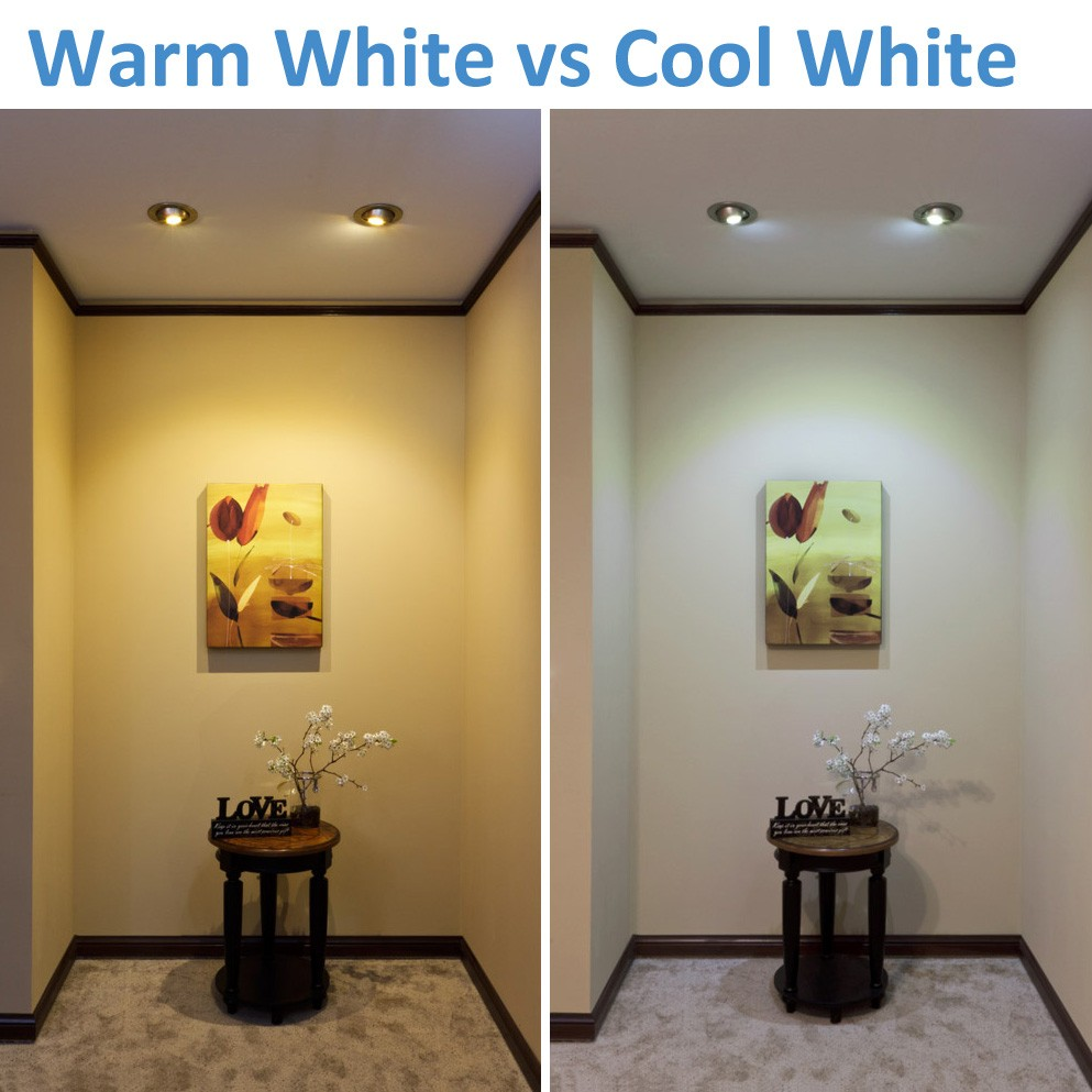before and after led lighting installation